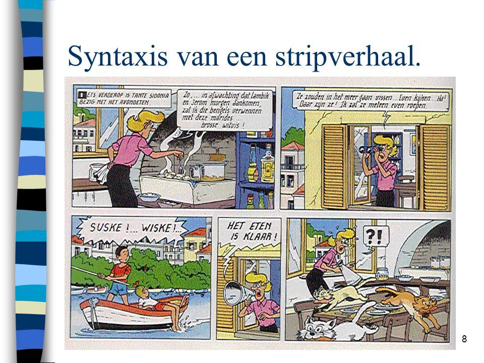 Syntaxis van een stripverhaal.