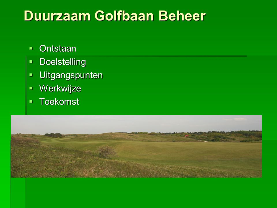 Duurzaam Golfbaan Beheer