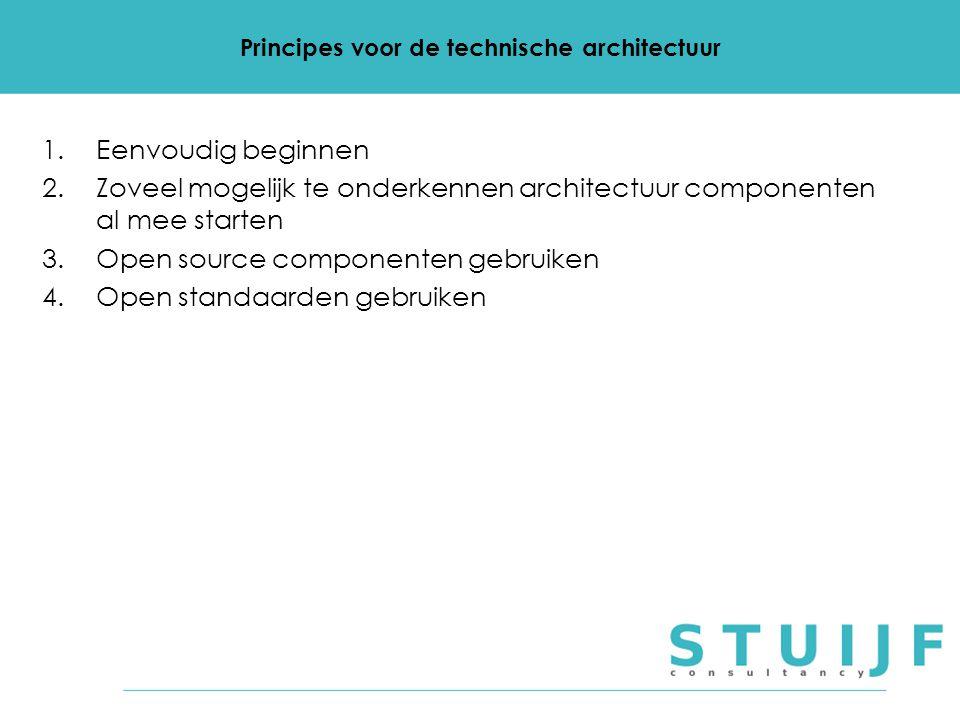 Principes voor de technische architectuur