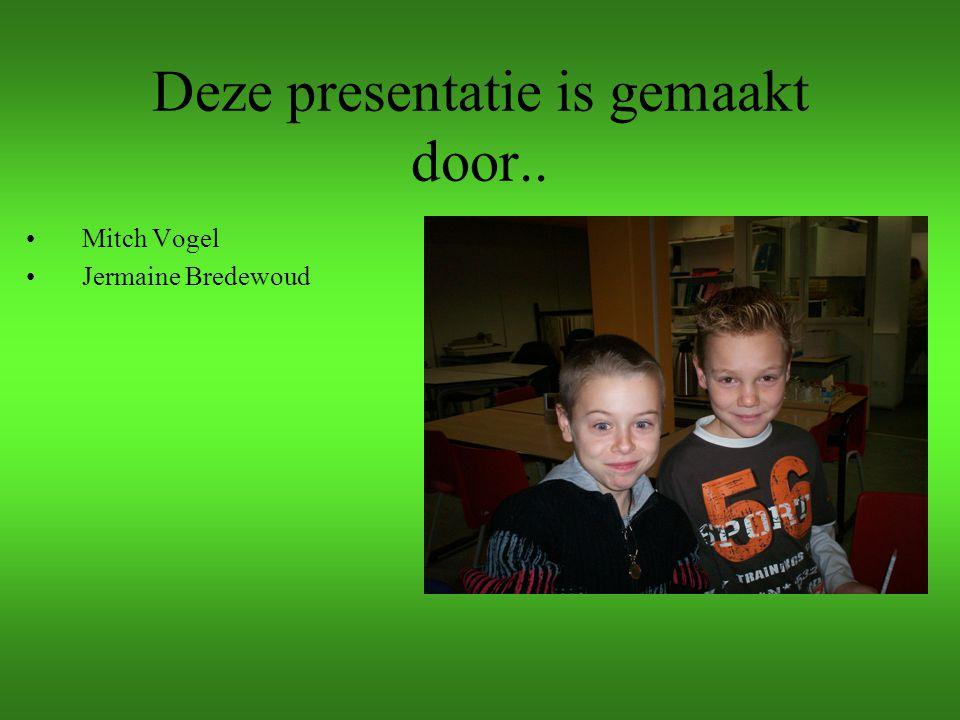 Deze presentatie is gemaakt door..