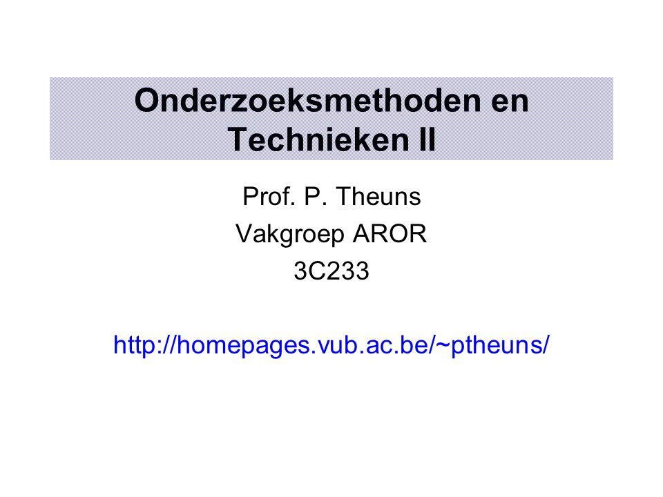 Onderzoeksmethoden en Technieken II