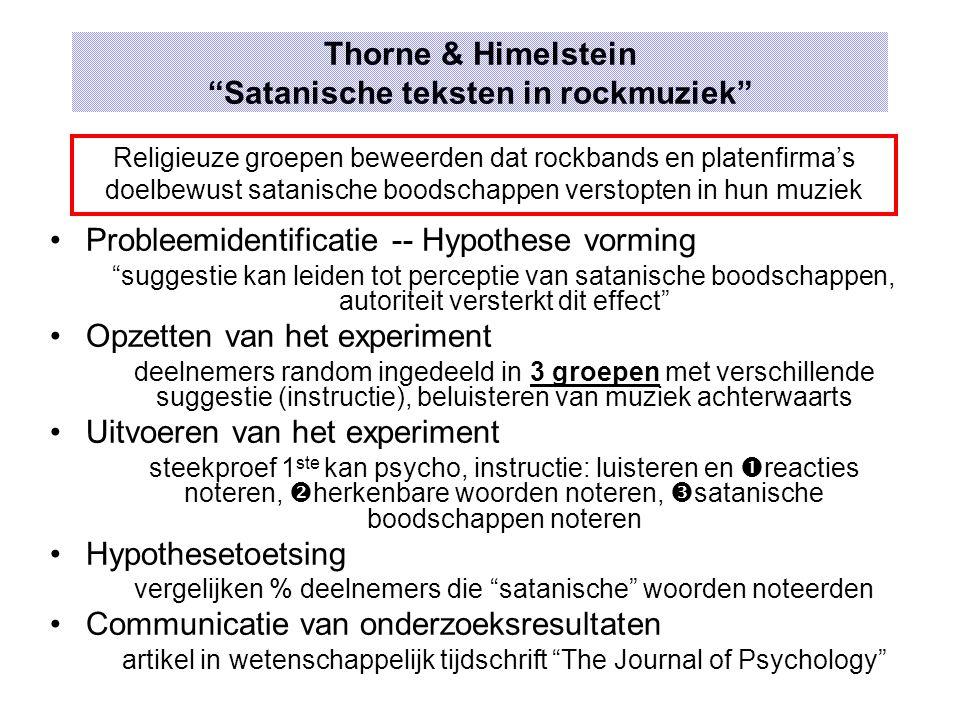Thorne & Himelstein Satanische teksten in rockmuziek
