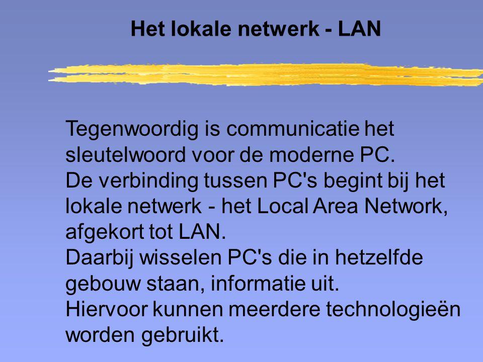 Het lokale netwerk - LAN