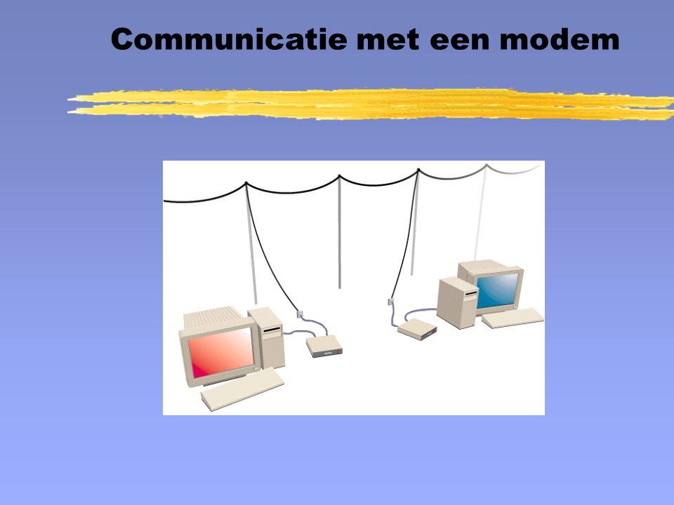 Communicatie met een modem