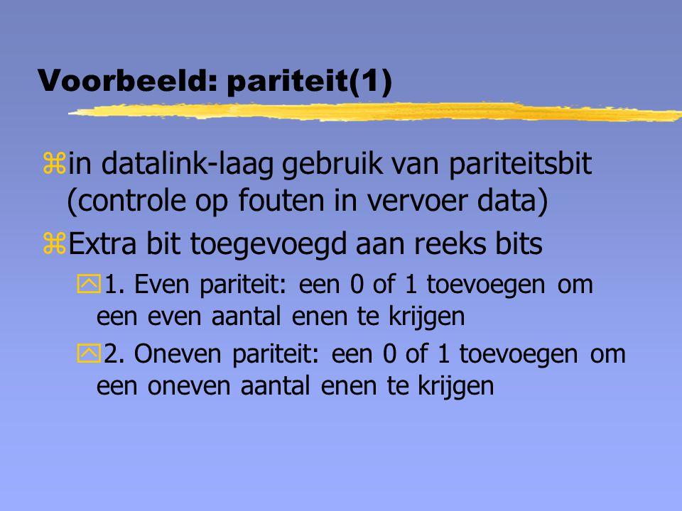 Voorbeeld: pariteit(1)