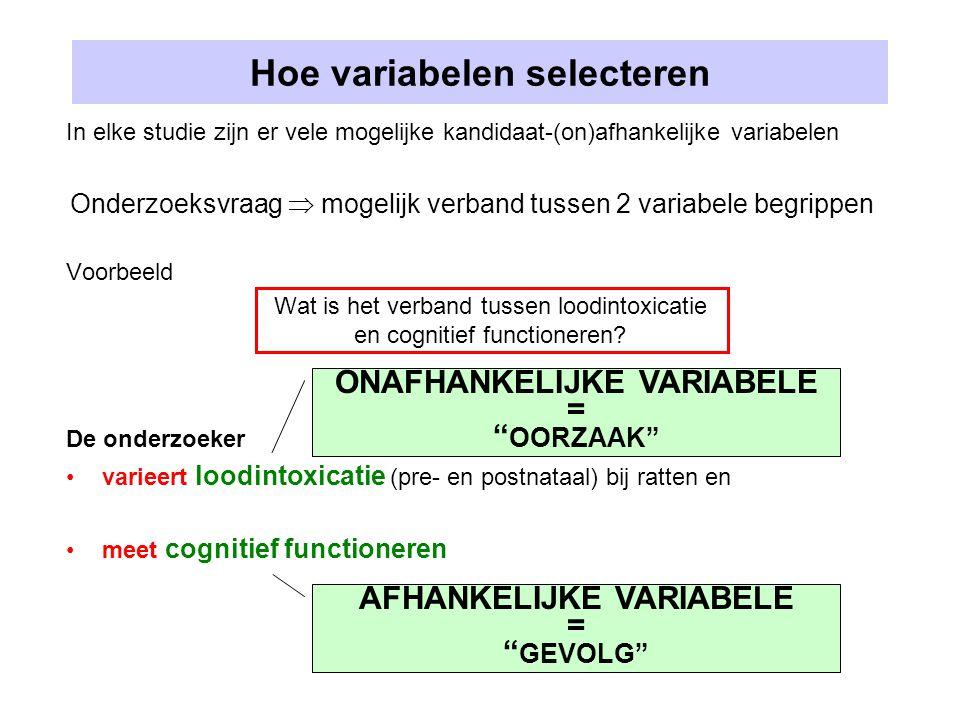 Hoe variabelen selecteren
