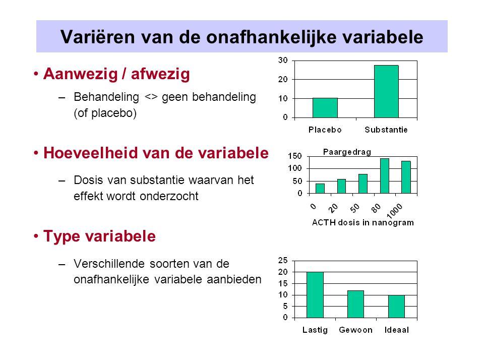 Variëren van de onafhankelijke variabele