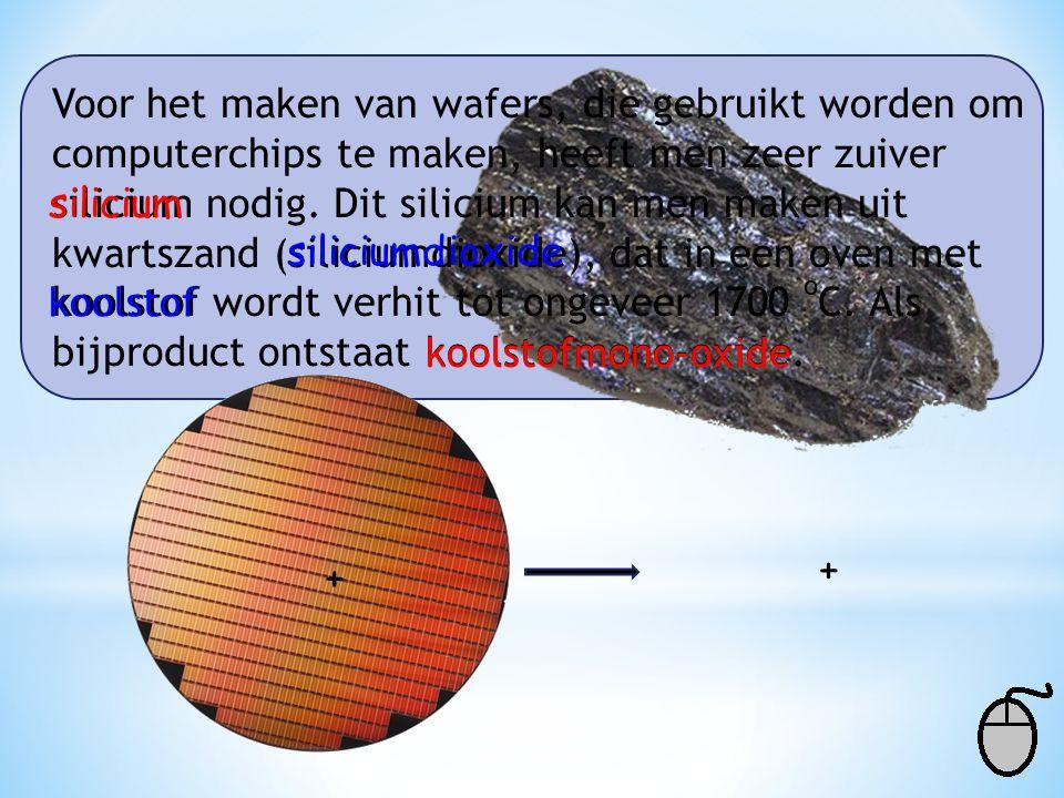 Voor het maken van wafers, die gebruikt worden om