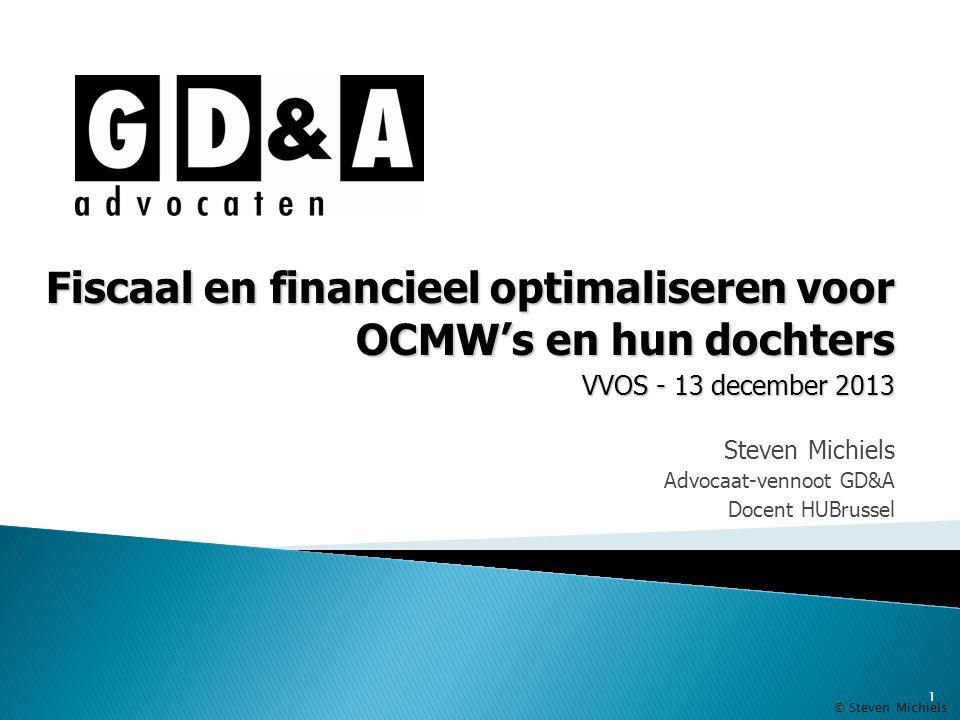 Steven Michiels Advocaat-vennoot GD&A Docent HUBrussel