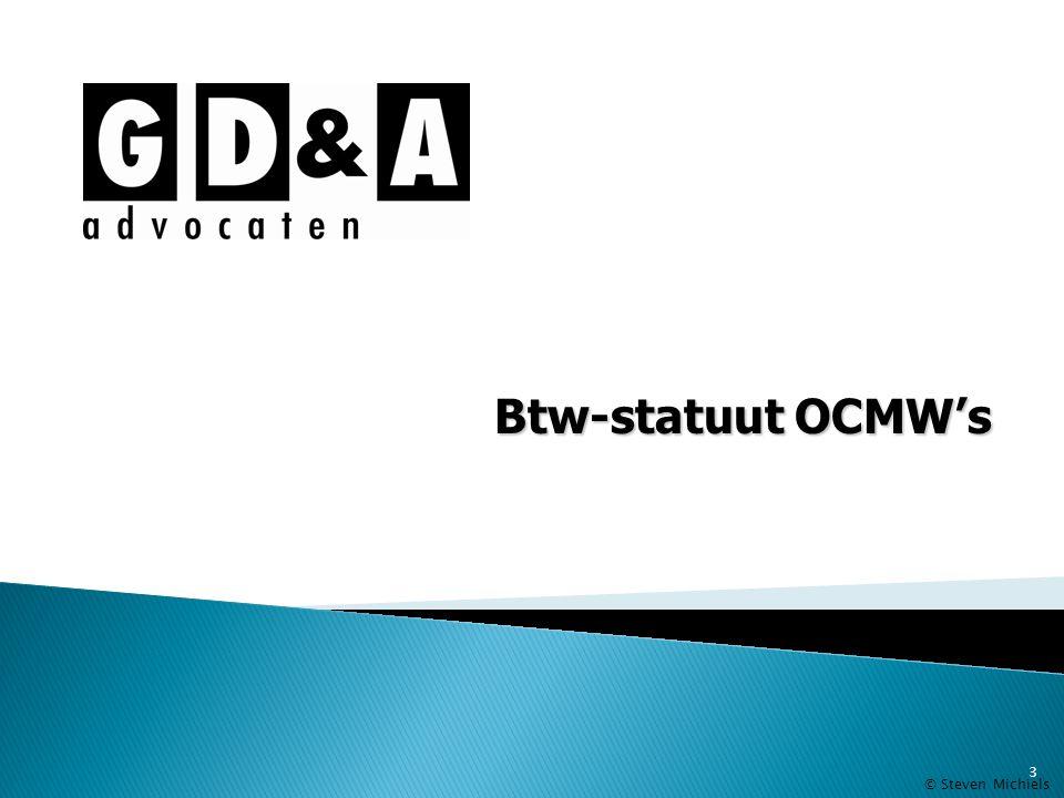 Btw-statuut OCMW's © Steven Michiels 3