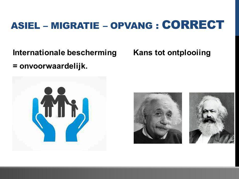 Asiel – migratie – opvang : correct