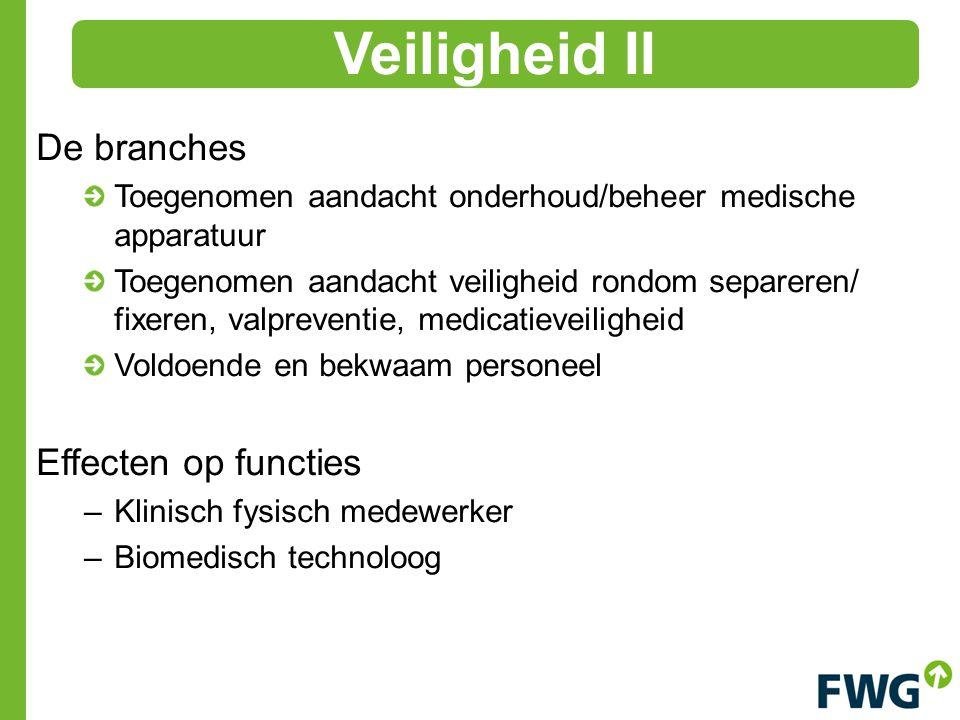 Veiligheid II De branches Effecten op functies