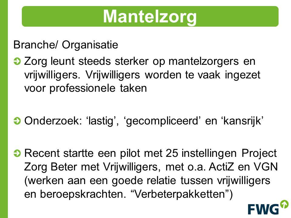 Mantelzorg Branche/ Organisatie
