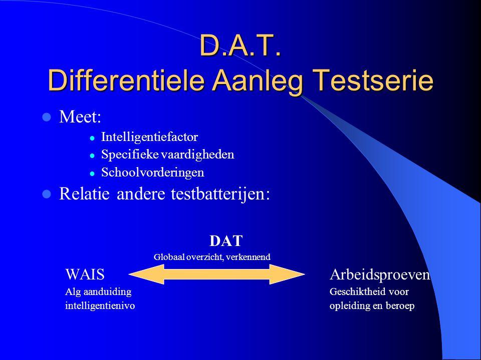 D.A.T. Differentiele Aanleg Testserie