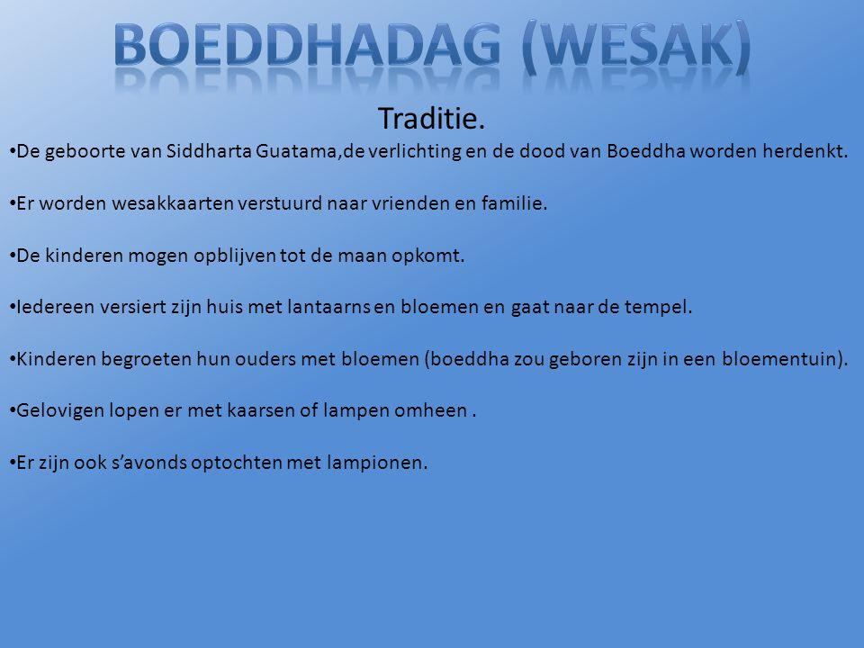 Boeddhadag (Wesak) Traditie.