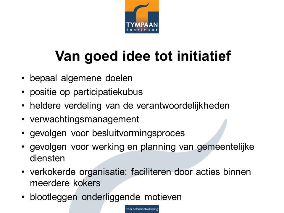 Van goed idee tot initiatief