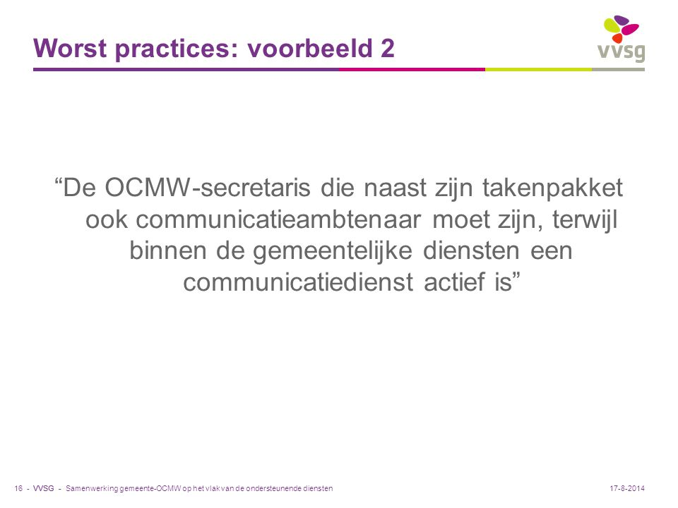 Worst practices: voorbeeld 2