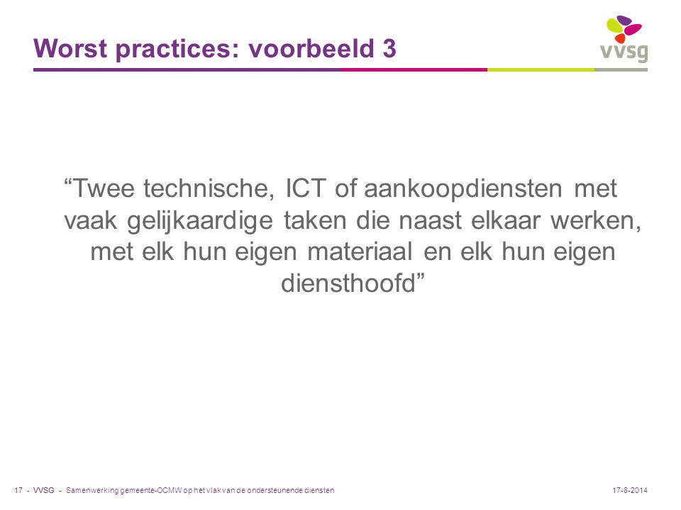 Worst practices: voorbeeld 3