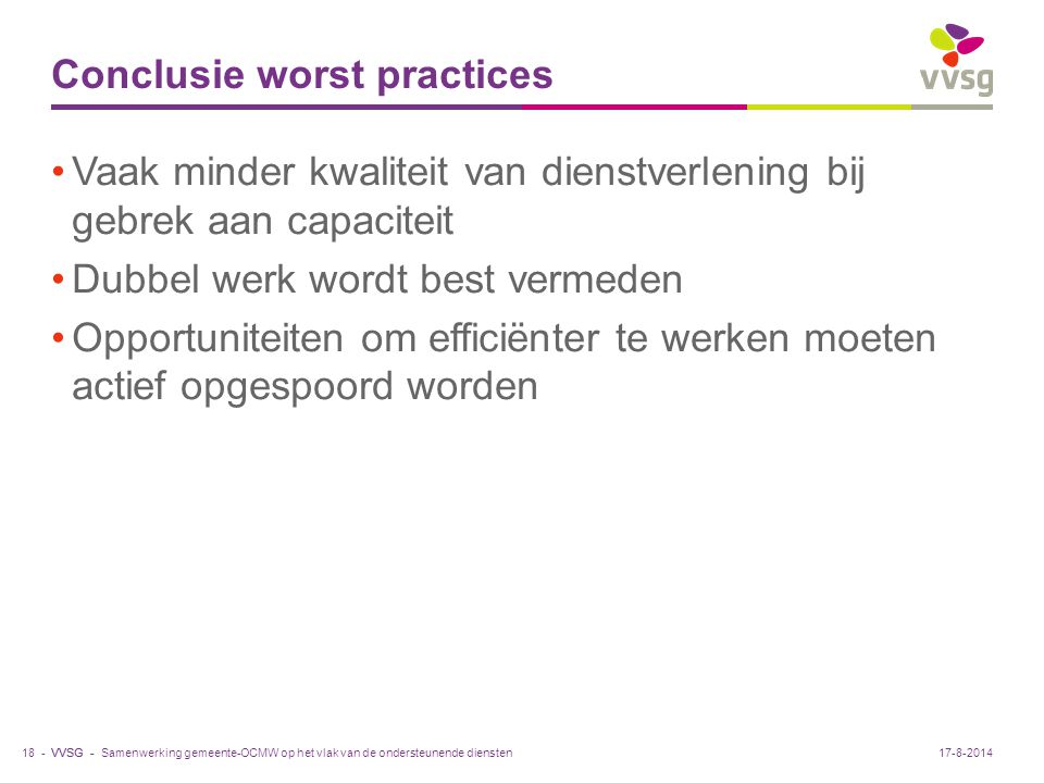 Conclusie worst practices
