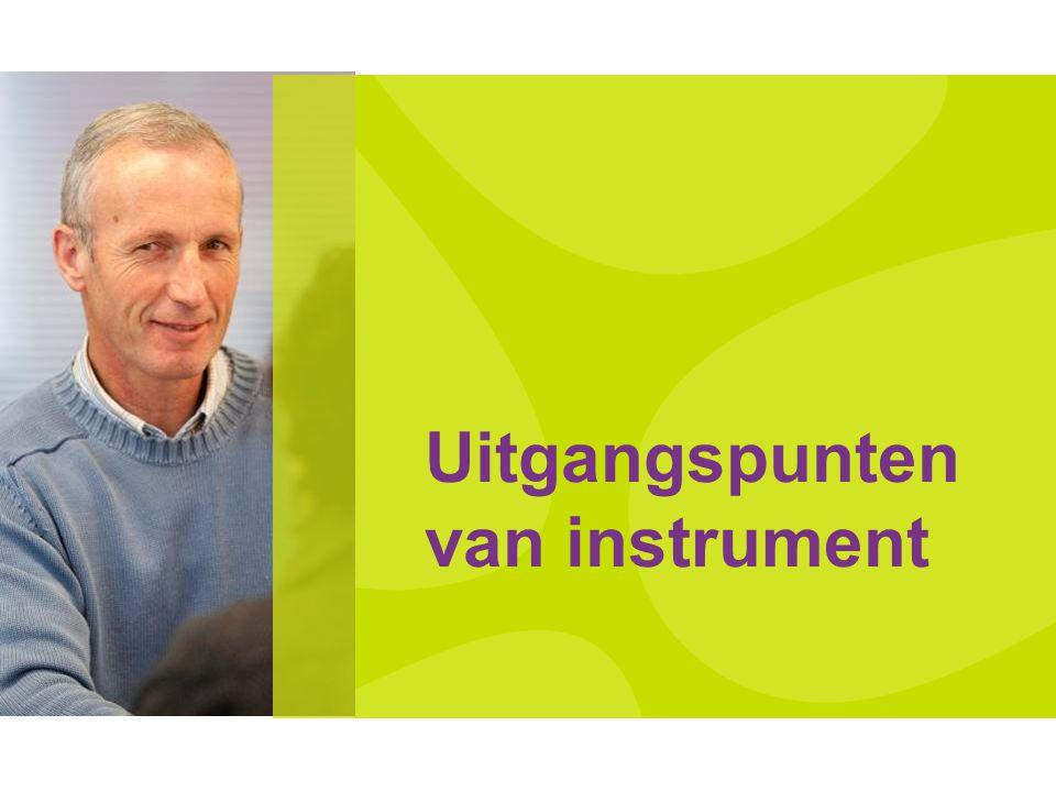 Uitgangspunten van instrument