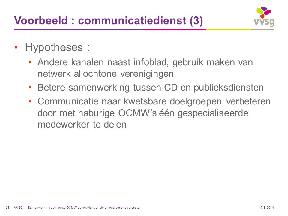 Voorbeeld : communicatiedienst (3)