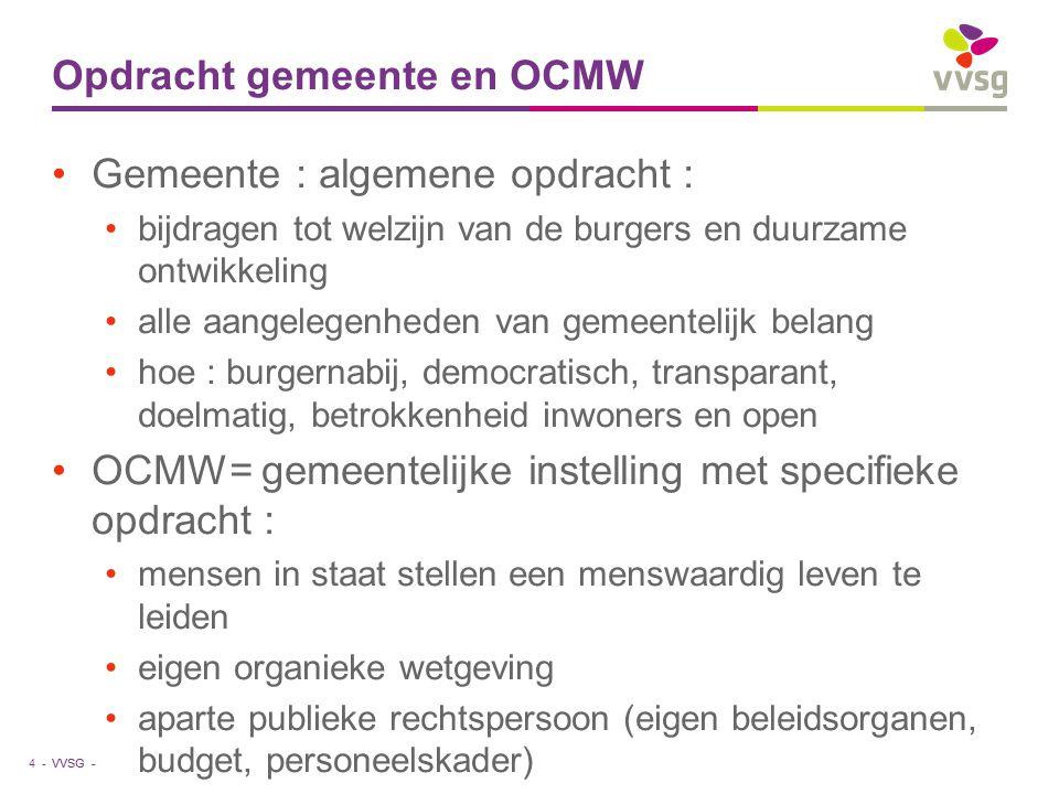 Opdracht gemeente en OCMW