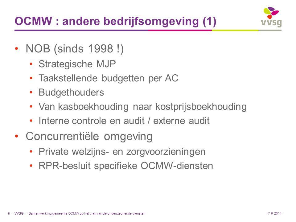 OCMW : andere bedrijfsomgeving (1)