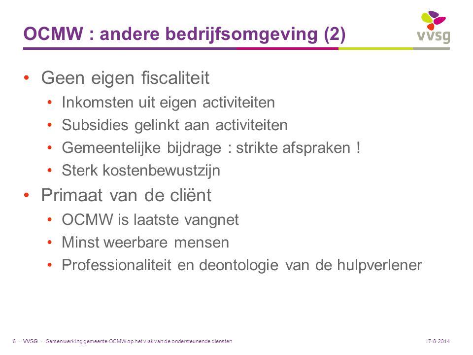 OCMW : andere bedrijfsomgeving (2)