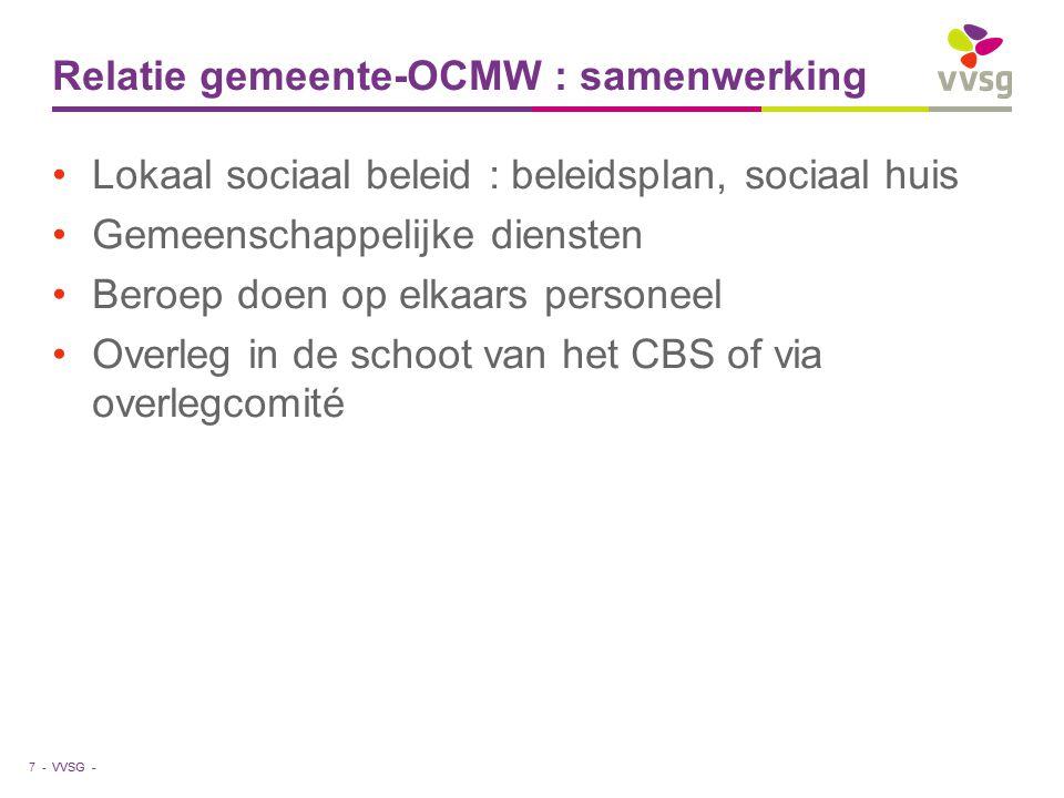 Relatie gemeente-OCMW : samenwerking