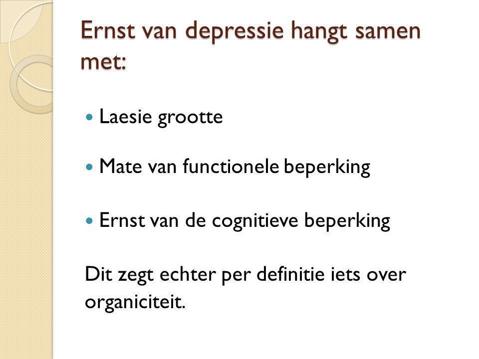 Ernst van depressie hangt samen met: