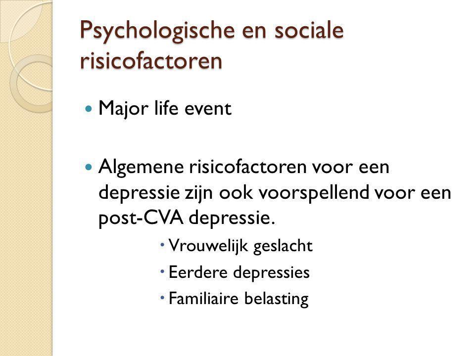 Psychologische en sociale risicofactoren