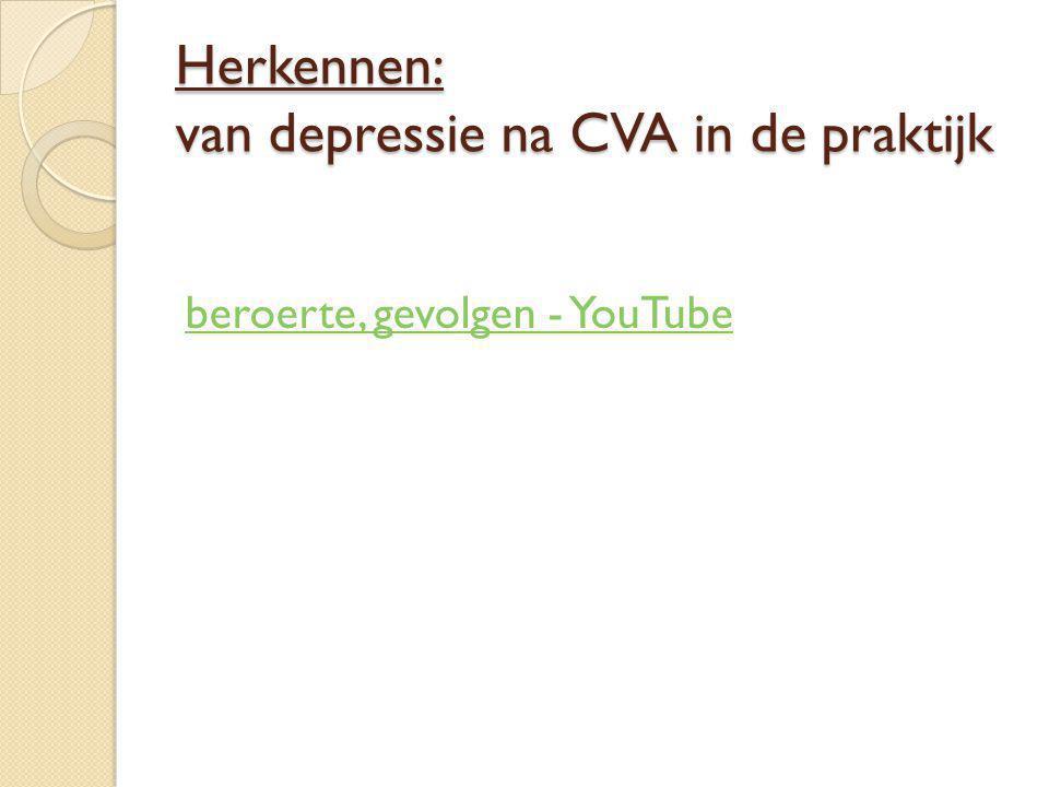 Herkennen: van depressie na CVA in de praktijk