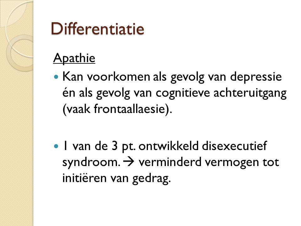 Differentiatie Apathie