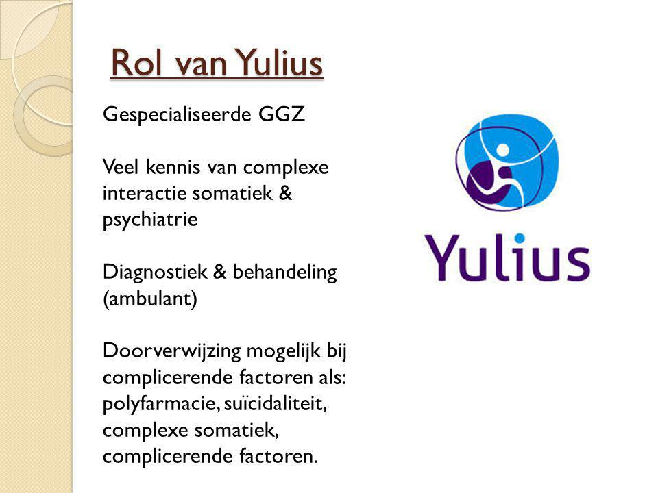 Rol van Yulius Gespecialiseerde GGZ