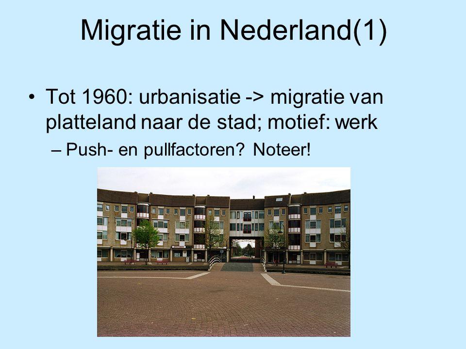 Migratie in Nederland(1)
