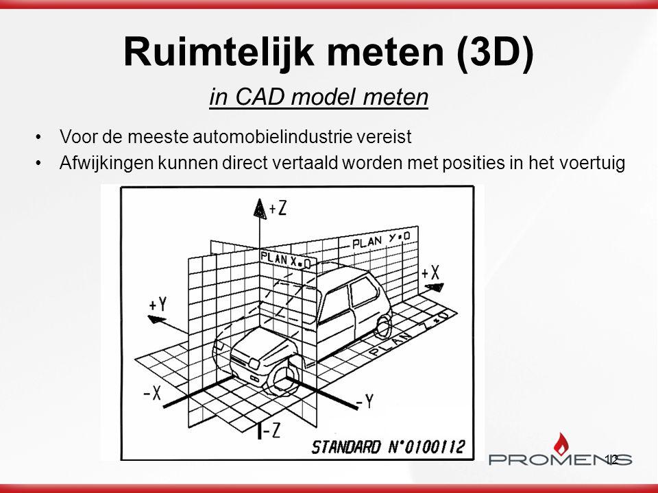 Ruimtelijk meten (3D) in CAD model meten