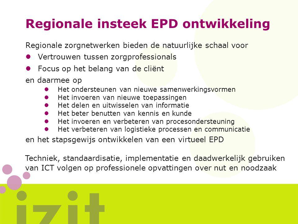 Regionale insteek EPD ontwikkeling