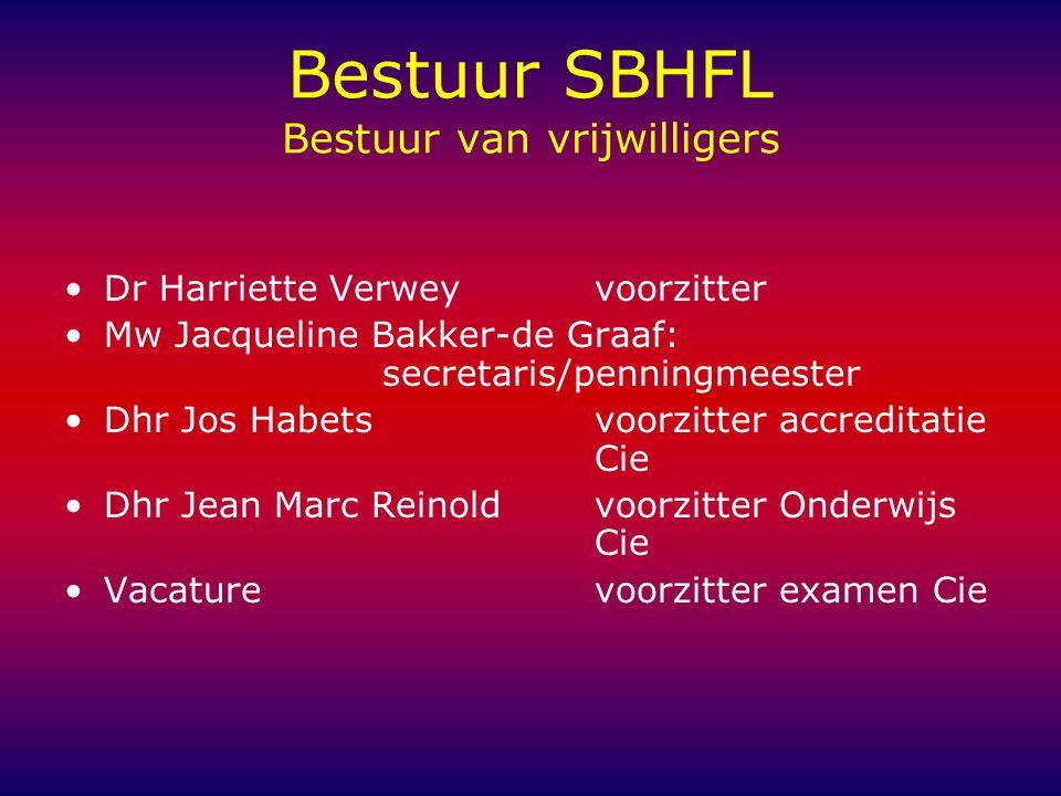 Bestuur SBHFL Bestuur van vrijwilligers