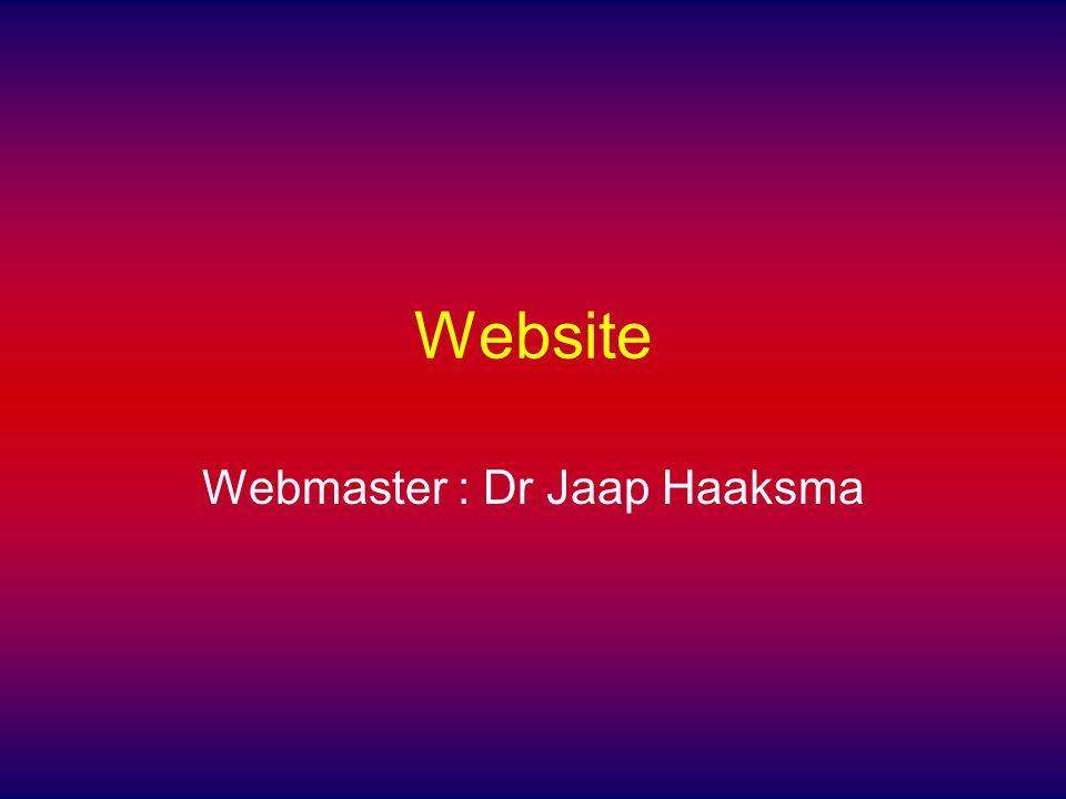 Webmaster : Dr Jaap Haaksma