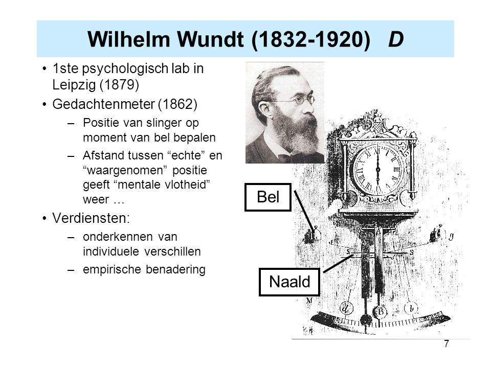 Wilhelm Wundt (1832-1920) D Bel Naald