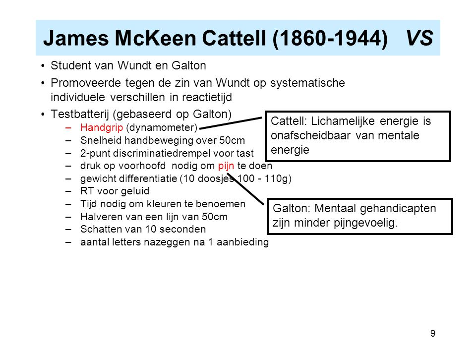 James McKeen Cattell (1860-1944) VS
