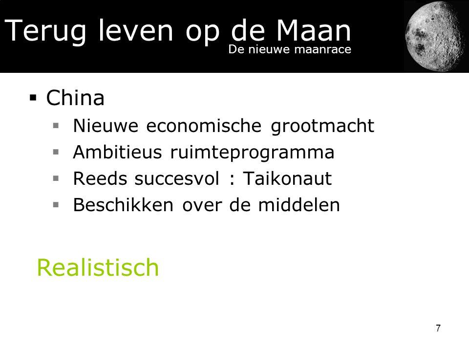 Terug leven op de Maan Realistisch China Nieuwe economische grootmacht