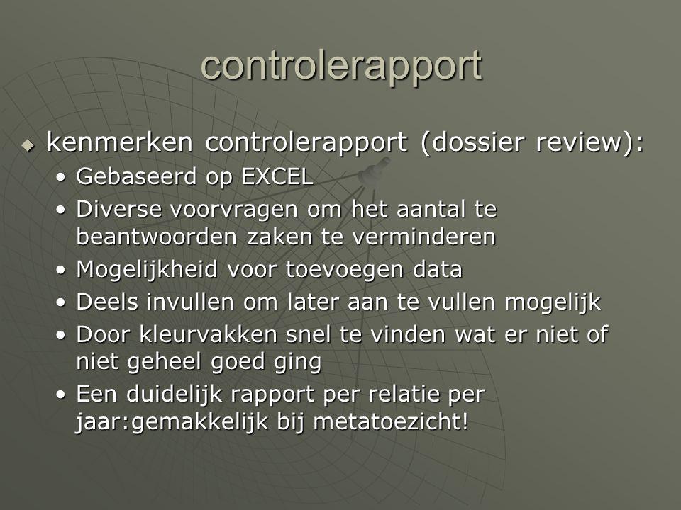 controlerapport kenmerken controlerapport (dossier review):