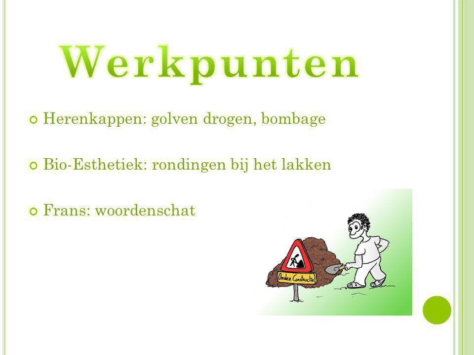 Werkpunten Herenkappen: golven drogen, bombage