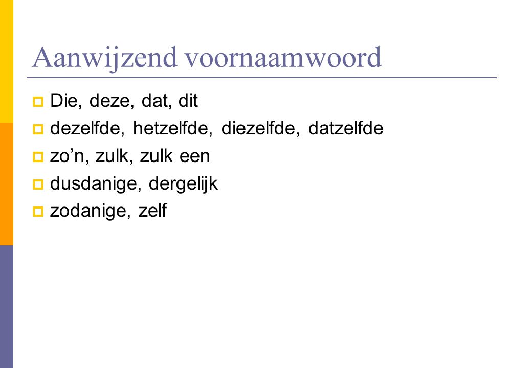 Aanwijzend voornaamwoord