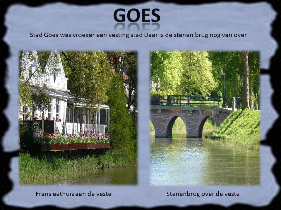 Goes Stad Goes was vroeger een vesting stad Daar is de stenen brug nog van over. Frans eethuis aan de veste.