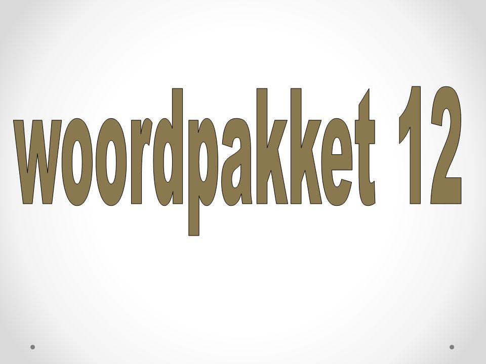 woordpakket 12