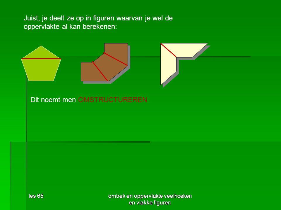 omtrek en oppervlakte veelhoeken en vlakke figuren