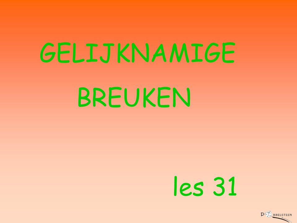 GELIJKNAMIGE BREUKEN les 31