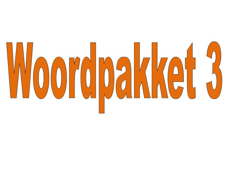 Woordpakket 3